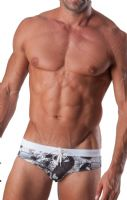 Geronimo Mens Swimwear Animal Low Rise Brief Trunks 1507s2 15071